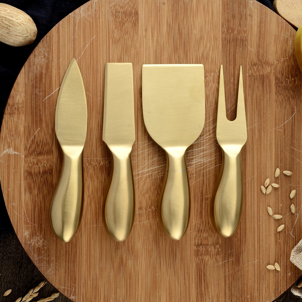 Damask Top Design 4pcs/set Cheese Cutter Knife Slicer Kit Kitchen Cheese Cutter Creative Kitchen Tools Chef Spatula Pan Cake image