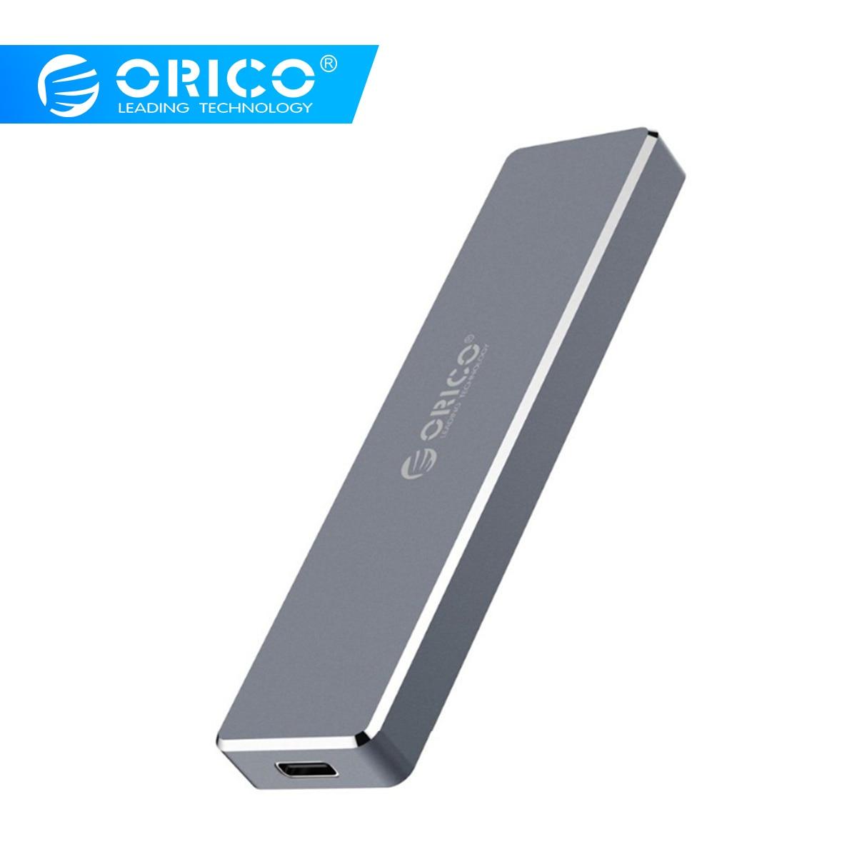 ORICO M.2 M clé SSD à USB 3.1 Type C boîtier M.2 Portable SSD cas de disque dur Mini Clip pousser boîtier ouvert mallette de rangement 2 To