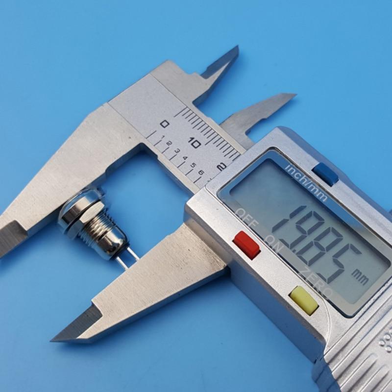 цена на 5 Pcs/Set Mini 8mm Metal Momentary 1NO 2Pin Push Button Switch AC 250V LB88