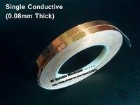 (0 08mm dick) 40mm * 30M Einzelnen Seite Klebrig Leitfähigen Kupfer Folie EMI Masking Tape fit für PDP  Handy