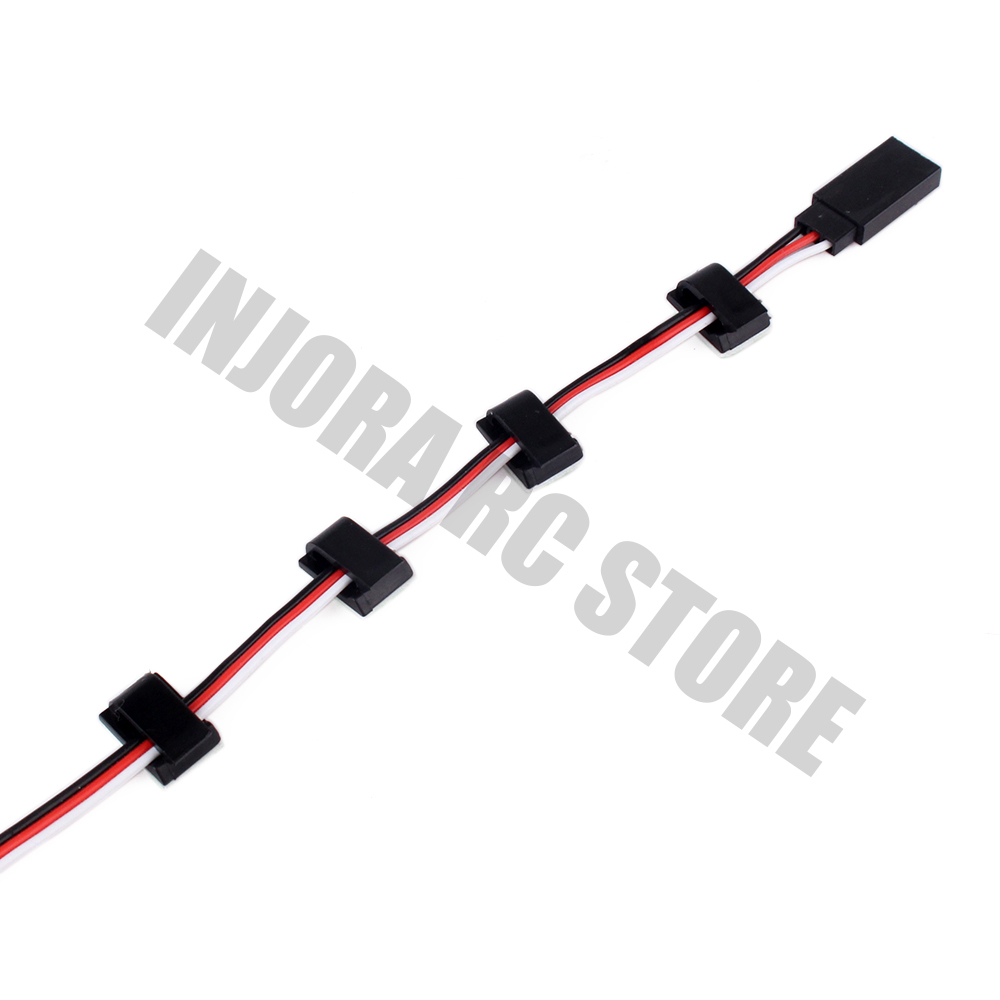 10PCS/Set RC Model Wiring Buckle With 3M Double-sided Adhesive For 1:10 RC Rock Crawler Car RC Boat Helicopter