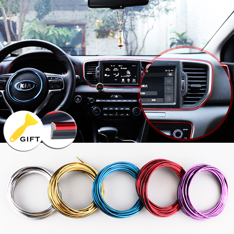 5M Car Styling Brand Stickers and Decals Interior Decorative 3D Thread Stickers Decoration Strip on car accessories стоимость