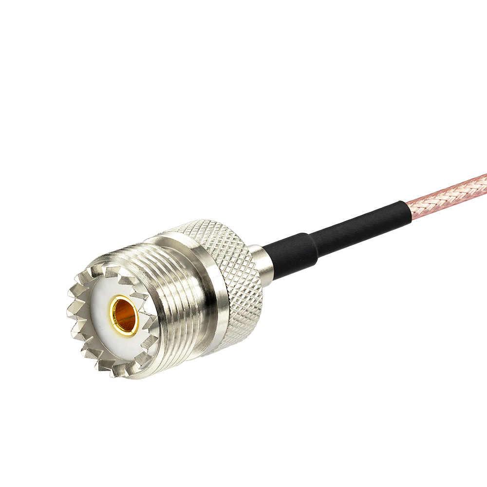 Eightwood RF Koaxialkabel MCX Weiblich Rechten Winkel zu UHF SO-239 Buchse Crimp 15cm Kabel für RTL SDR USB Stick Dongle