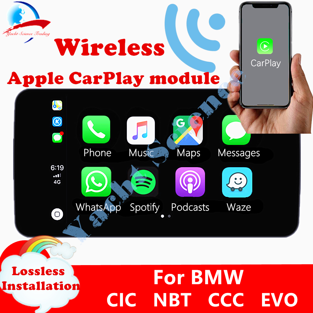 Wireless Apple CarPlay / Android Auto(by USB) Box Module for All BMW NBT CIC CCC EVO System for BMW 1 2 3 4 5 7 SeriesCables, Adapters & Sockets   -