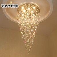Glass Crystal Chandelier Light Fixture Modern Lamp For Indoor Decoration AC110V 240V