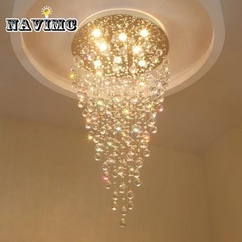 K9 led クリスタルシャンデリア照明器具現代のリビングルームのベッドルームホテル廊下屋内装飾階段天井ランプ