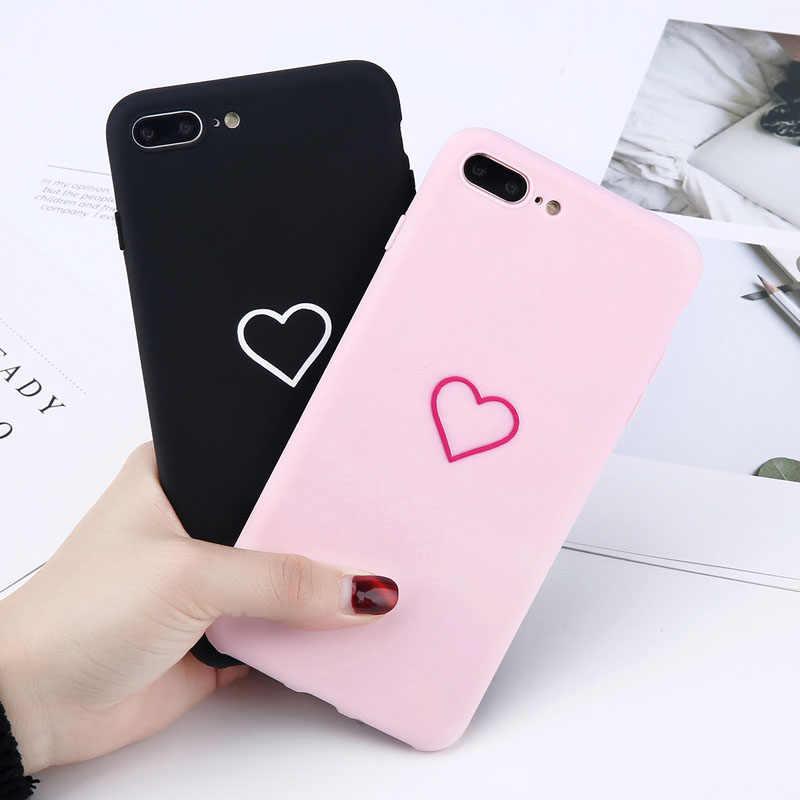 Lovebay/чехлы для телефонов с узором в виде сердца для Iphone 6, 6 S, 7, 8 Plus, XS Max, XR X, мягкий силиконовый ультратонкий простой чехол из ТПУ