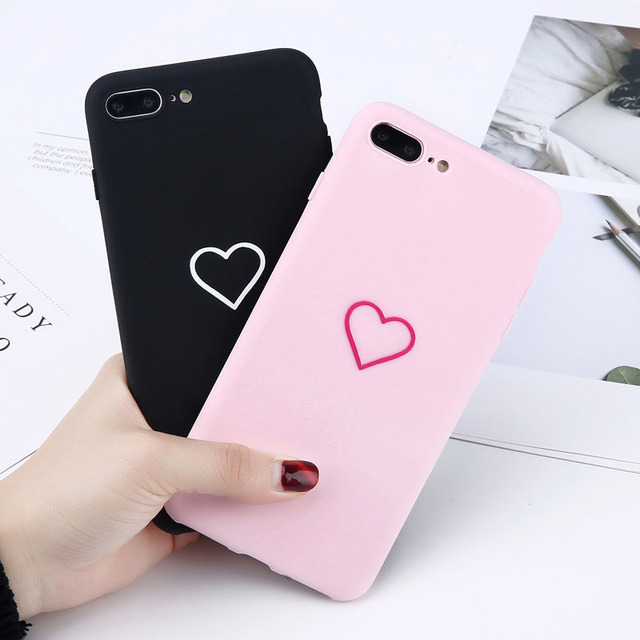 Heart Patterned Silicone Smartphone Case