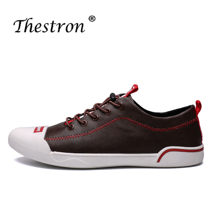 2018 Fashion Spring Summer Leather Casual Shoes Men Black Elastic Band Brand Sneakers Hot Sale Leather Footwear for Men Loafers black leather look skater skirt with elastic band