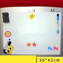 A3 Гибкая Водонепроницаемая детская магнитная доска холодильник магнитный блокнот r20