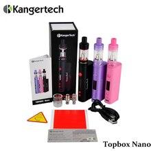 เดิมบุหรี่อิเล็กทรอนิกส์Kanger Topboxชุดนาโนควบคุมอุณหภูมิ60วัตต์ชุดเริ่มต้นที่มีSSOCCขดลวดด้านบนเติมVS Topboxมินิ(MM)
