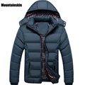 Mountainskin Winter Men's Down&Cotton Jackets Hat Detachable Solid Casual Male Parkas Thick Thermal Windproof Fashion Coat,SA133