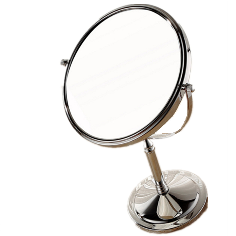 6 inch double sided makeup oval magnifying mirror bathroom for Application miroir pc