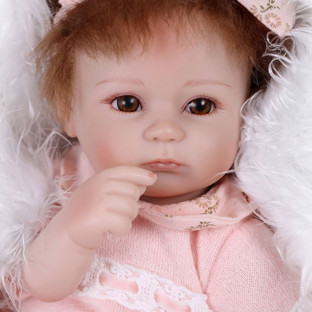 43cm babydoll Princess bebe Reborn Baby Doll Toys Soft Realistic Lifelike Newborn Playmate Play House Toys Safety Gift For Girls