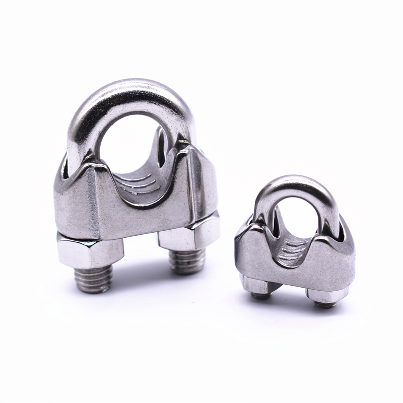 Confident 1pcs 304 Stainless Steel Wire Rope Clamp Chuck Head U-clamp Wire Clamp Wire Rope Fastener M2 3 4 5 6 8 10 12 14