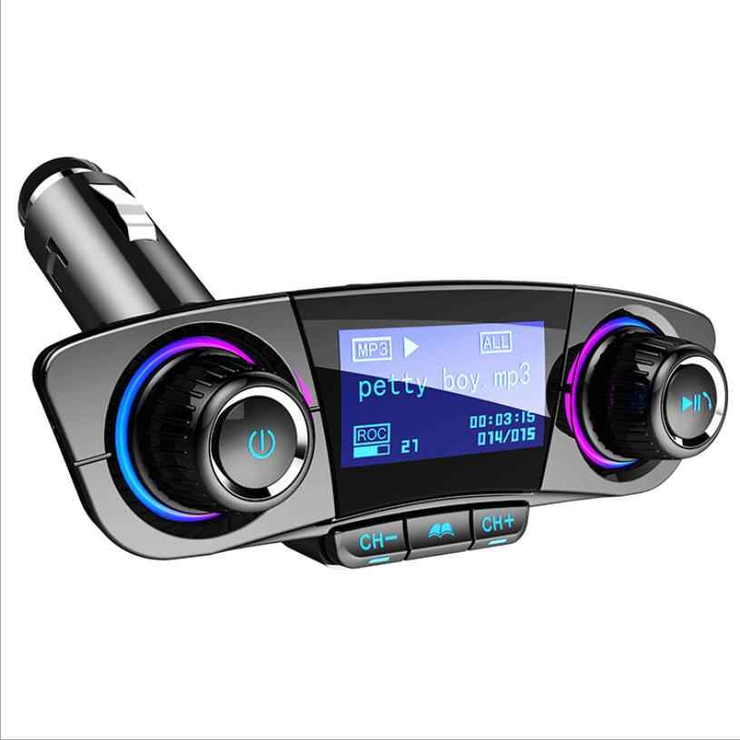 FM Transmitter Aux Modulator Bluetooth Handsfree Car Kit Car Audio MP3 Player with Smart Charge Dual USB Car Charger Car-styling