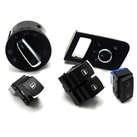 New Chrome free shipping Mirror switch window switch for VW Volkswagen Touran 2003 2015 Caddy 5K3 959 857 1TD959565A 5K3959857