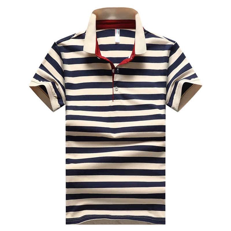 6b07a0ee ... 2018 Summer fashion Mens Polo Shirt Classic Striped Cotton Short Male  Polo Men Tees Breathable Asia Size M-4XL. Click to enlarge