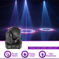 Sharelife Mini 1 Lens RGB Laser Shark Moving Pattern Beam Laser Light Home Gig Party DJ Stage Lighting Sound Auto H1C