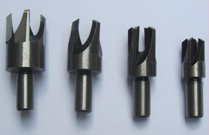 4 PCS Wood Plug Cutter Cork Drill Bits Cutting Tools Set