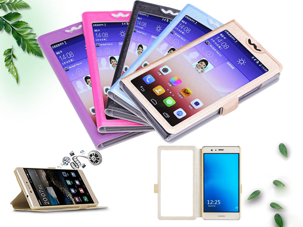 Hot sale! For HomTom S 9 Plus Case TOP Quality phone bag flip PU Leather Cover With View window For HomTom S9 Plus