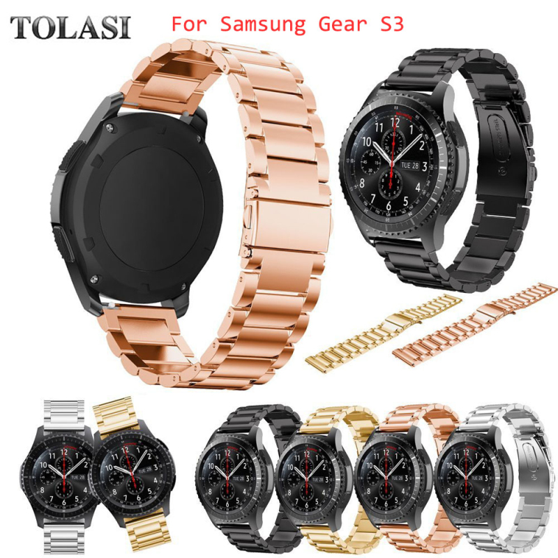 TOLASI Brand Stainless Steel Watch Band for Samsung Gear S3 Frontier Strap for Gear S3 Classic Smart Watch Bracelet black sliver crested sport silicone strap for samsung gear s3 classic frontier replacement rubber band watch strap for samsung gear s3