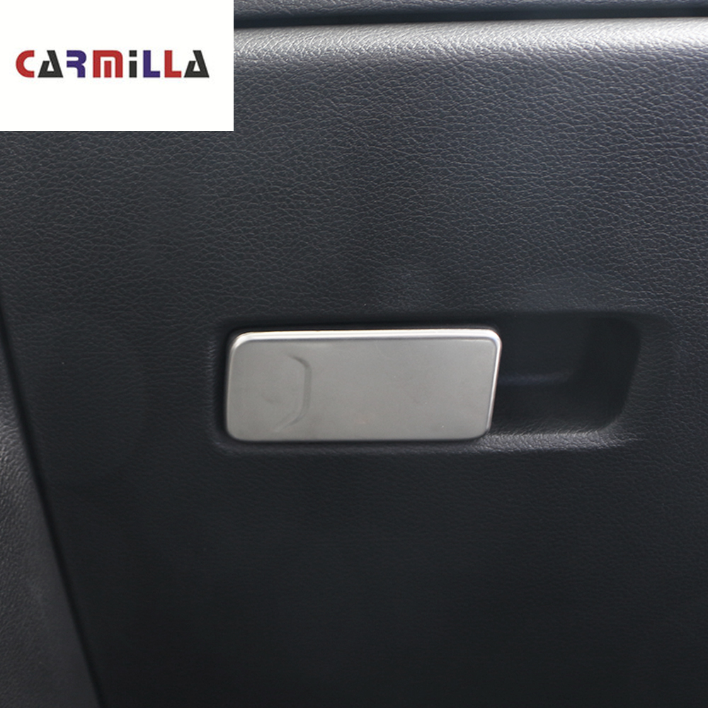 Accessories for <font><b>Jeep</b></font> <font><b>Compass</b></font> LHD 2016 2017 2018 <font><b>2019</b></font> Glove Box Handle Cover Copilot Storage Clasp Hand Bow Molding Kit Trim image