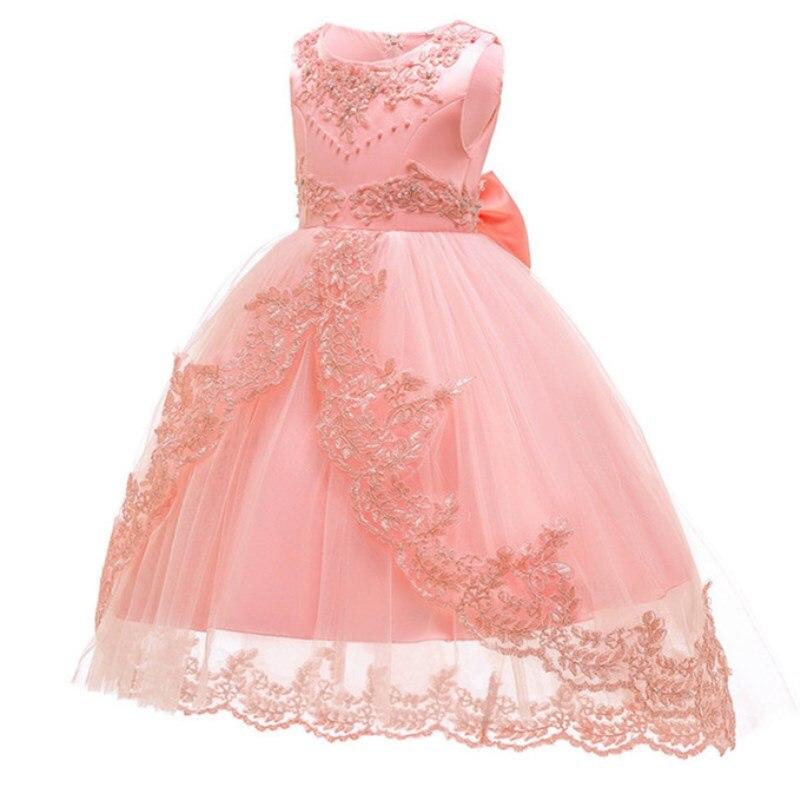 480cb3fc4081 Vestidos de princesa para Niñas Ropa flor fiesta niñas vestido elegante  vestido de boda para Niñas Ropa 3 4 6 8 10 12 14 años