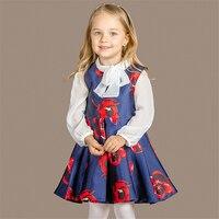 Girls Dress Fashion Spring Autumn Dress European Style Wedding Girls Dress Sunny Kids Dresses For Girl