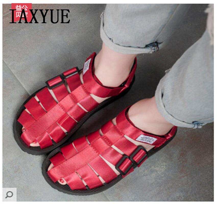 IAXYUE/модные летние женские сандалии черного цвета на низком каблуке в старинном стиле; пляжная обувь красного цвета; женская обувь больших размеров|female sandals|fashion sandalssandals fashion | АлиЭкспресс