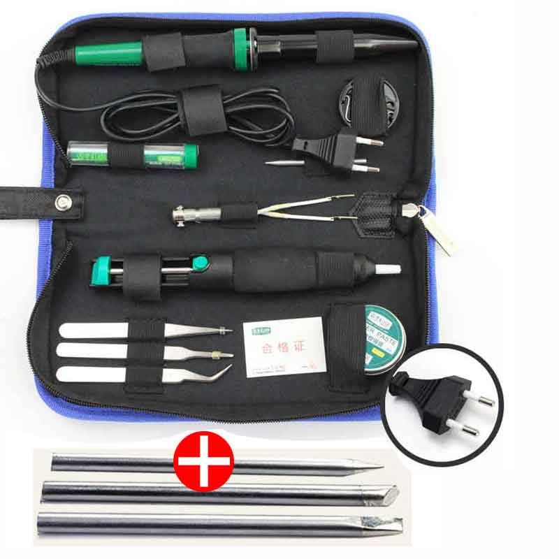 LAOA 30W 220V/110V Electric Soldering Iron Set Electronic Iron Kit Welding Gun Repair Tools with Solder Paste Tweezers Tin Wire