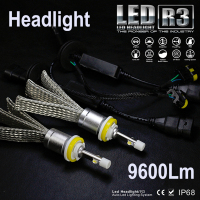 Runstreet TM R3 9600lm Cree XHP 50 Car LED Headlight Kit H1 H3 H4 H7 H9
