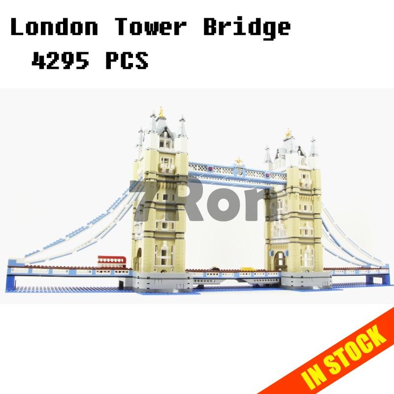 Models building toy 17004 Creator Expert London Tower Bridge Building Blocks Compatible with lego City 10214 toys & hobbies все цены