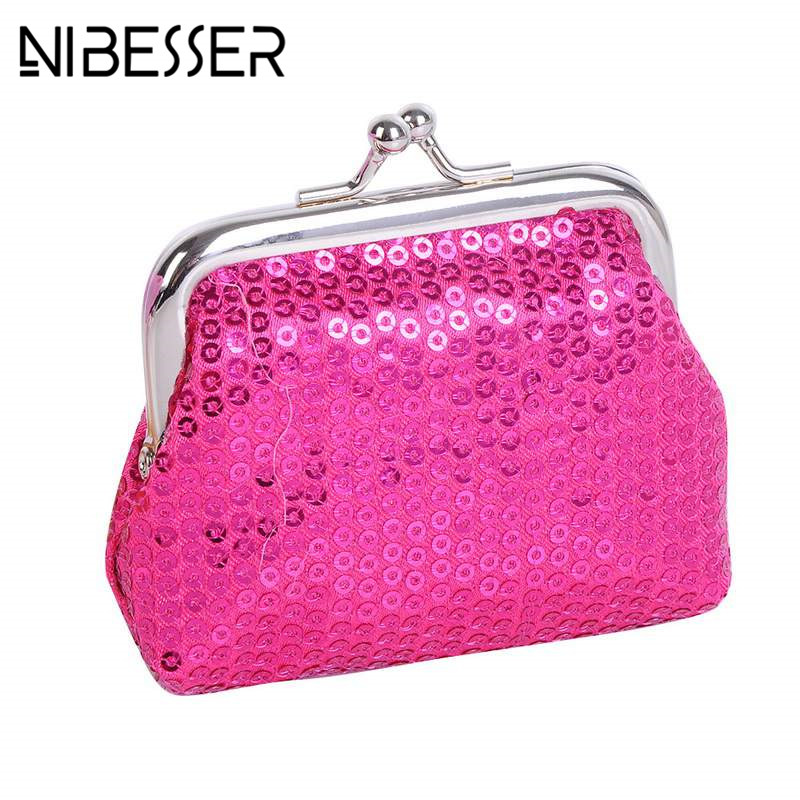 NIBESSER Women Sequin Wallet Coin Purse Mini Money Bag Fashion Evening Clutch Small Ladies Handbags Hasp Women Portable Purses cute girl hasp small wallets women coin purses female coin bag lady cotton cloth pouch kids money mini bag children change purse