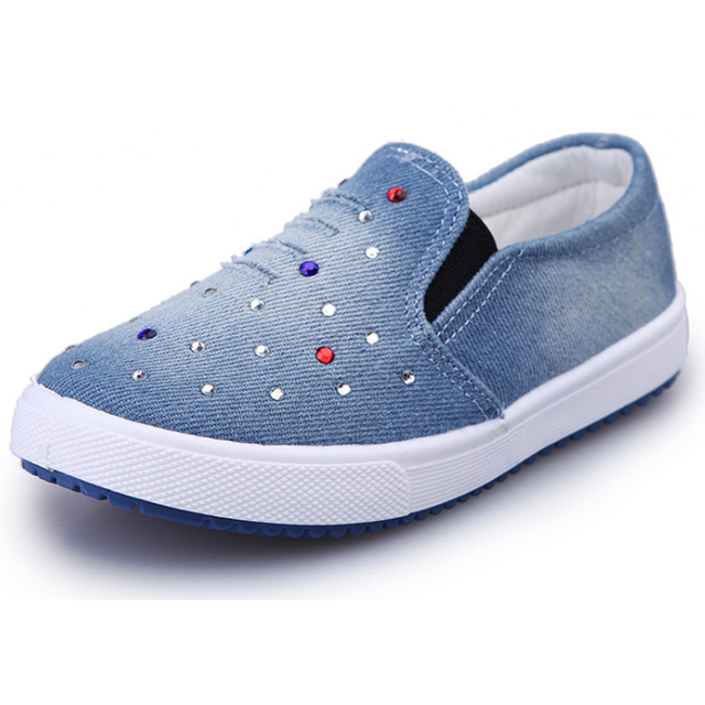 Girls Shoes Children Canvas Casual Shoes Sneakers Fashion Light Flat Kids  Loafers Breathable School Pedal Shoe