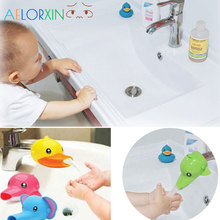 Cute animal Faucet Extension Childrens Guide Sink Hand Sanitizer Handwashing Tools of The Water Trough Bathroom