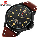 2017 NAVIFORCE Casual Watch Top Brand luxury Fashion watches Men Sport Quartz Watch Leather dive Wristwatch Male Relogio Clock