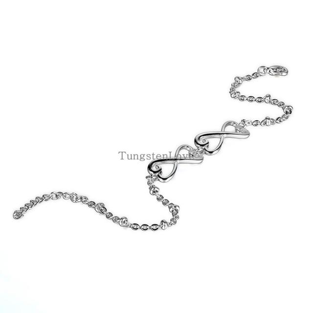 2015 New Fashion Stainless Steel Silver Double Infinity Bracelets