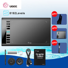 Ugee M708 10x6'' inch Painting Digital Tablet Graphics Drawing Tablet Pad 2048 Level Graphic Tablet Usb Digital Pens Glove parblo a610 10x6 graphics tablet art drawing tablets usb support protective film anti fouling glove spare pen nibs
