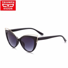 TRIUMPH VISION Cat Eye Sunglasses Women Gradient Lens Sun Glasses Lady Brand Designer Shades Lentes Gafas Oculos de sol Feminino