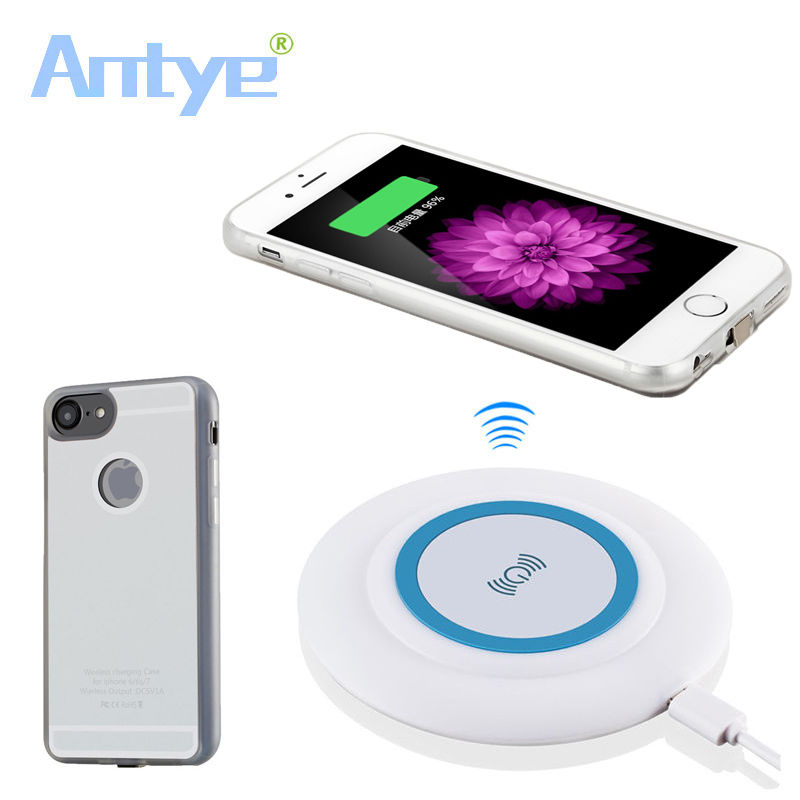 Advertising American Frugal Antye Qi Wireless Charger Pad With Touching 7 Led Color+qi Receiver For Iphone 7/7plus To Enjoy High Reputation At Home And Abroad