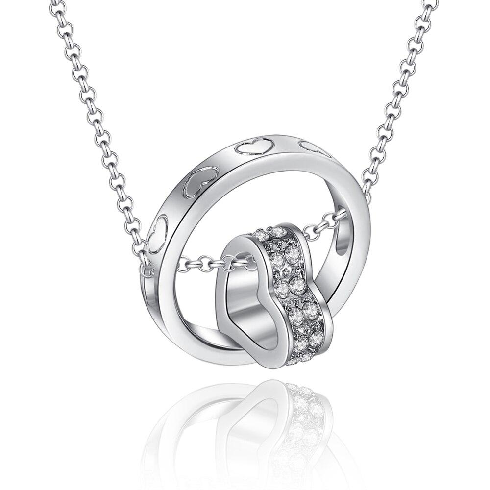 Hot sale new 2014 heart circle pendants heart crystal necklace with new 2014 heart circle pendants heart crystal necklace with 45cm5cm aloadofball Choice Image