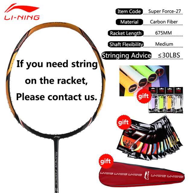 Li-Ning Professional Badminton Rackets Carbon High Quality Li Ning Badminton Sports Racquet LiNing Sports Single Racket AYPM222