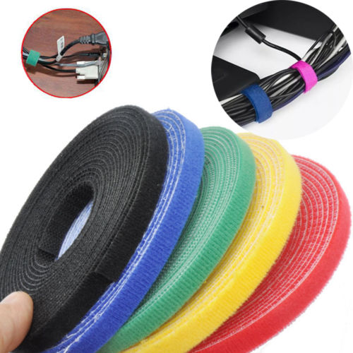 Fixmee Colorful Reusable 1cm*25 meters Back to Back Hook Loop Cable Ties,Power Wire Management Nylon Magic Tape Sticks цена 2017