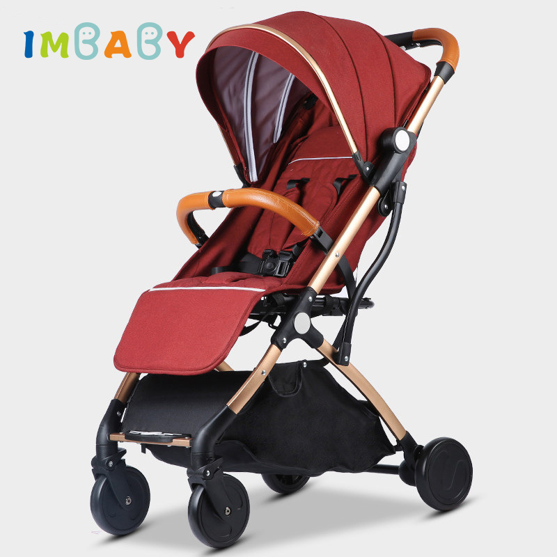 Lightweight Car Seat >> Us 63 76 40 Off Imbaby Folding Lightweight Baby Stroller For Travel Car Seat Stroller Baby Carriage Baby Prams For Kids Newborns Baby Pushchair In