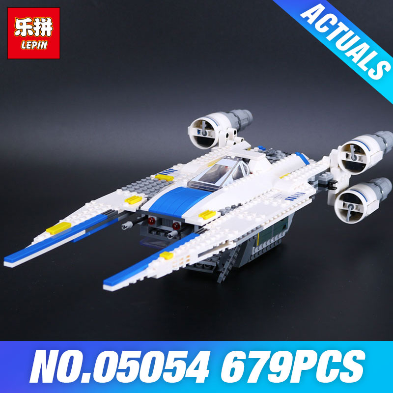 Lepin 05054 Star Genuine Series Wars 679pcs U Star Wing Fighter Set Building Blocks Educational Bricks Kids DIY Child Toys 75155 конструктор lepin star plan истребитель повстанцев u wing 679 дет 05054