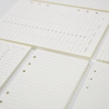 Лидер продаж, A5, A6, внутренние страницы, квадратный месяц, план, пунктирная линия, чтобы сделать список, пустая еженедельная внутренняя бумага, страницы для связывания, вставки, соответствующие Filofax