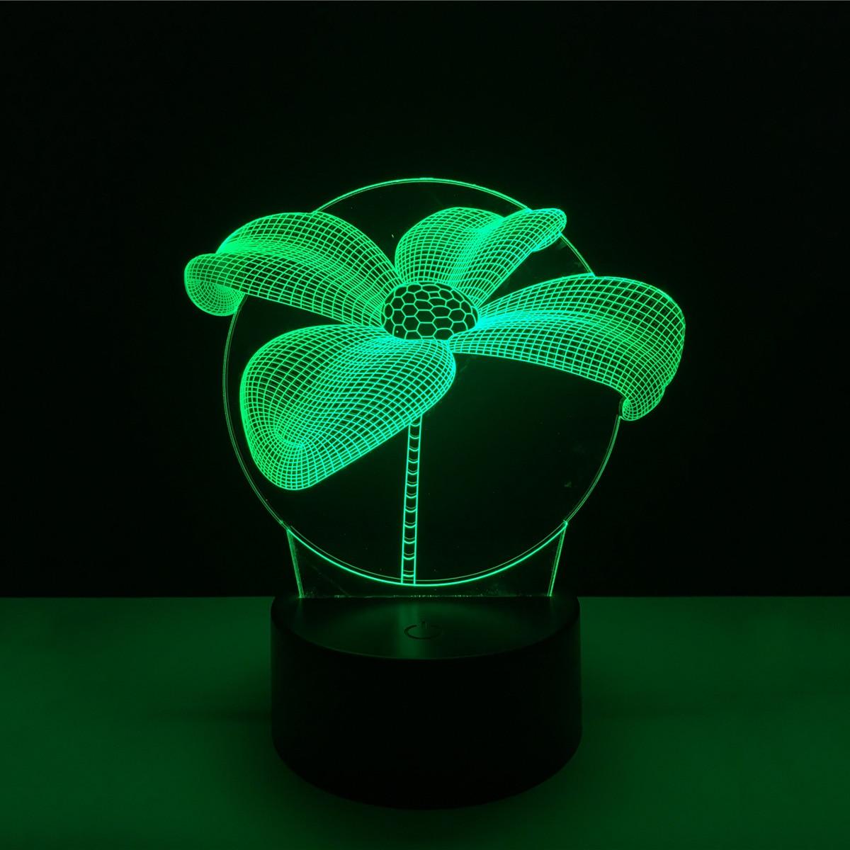 3D Lotus Acrylic LED Lamp 3D Baby Night Light Sleeping Lighting For Children Night Light Xmas New Years