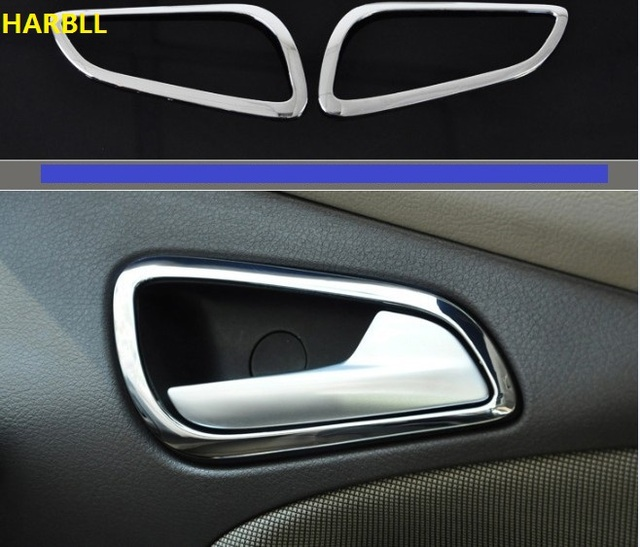 Fit for 2012 2013 2014 ford focus mk3 chrome interior door handle fit for 2012 2013 2014 ford focus mk3 chrome interior door handle cover bezel garnish trim planetlyrics Images