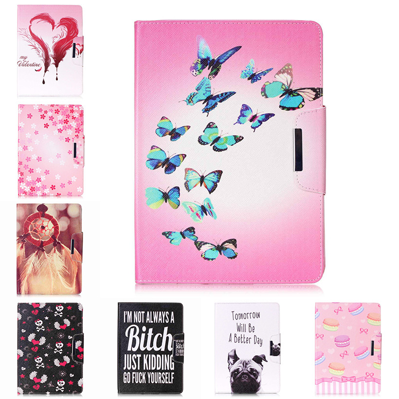 Painted Flip PU Leather Case For Apple iPad Air 1 9.7 inch Back Covers Flowers smart Card Slots wallet tablet Shell Capa Housing case for apple ipad pro 9 7 inch protective shell smart cover pu leather back cases tablet pc for ipad pro9 7 ipad7 9 7 covers